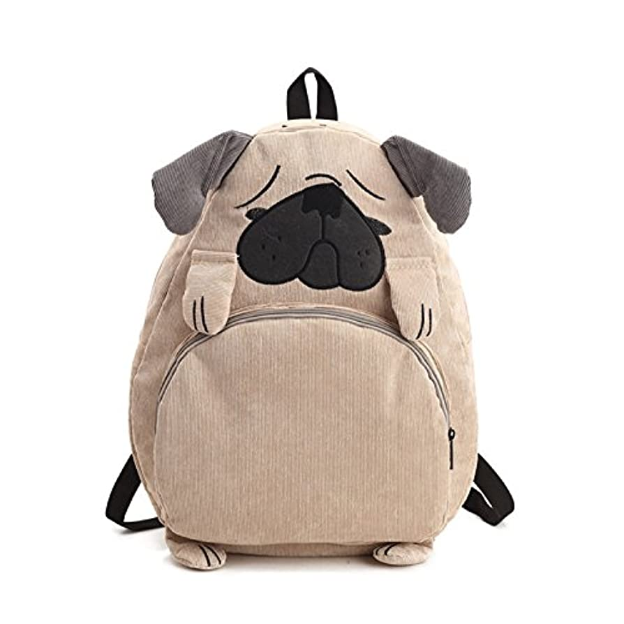 背が高いポータル不均一LEE FUN (リー ファン) リュック レディース かわいい パグ 犬柄 バック リュックサック a4 通学 大容量 個性的 リュック 男女兼用 バッグパック