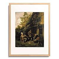 Dusart, Cornelis,1660-1704 「Bauern vor einem Wirtshaus. 1681」 額装アート作品