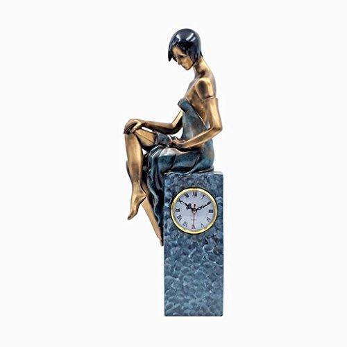 CHENGYI 現代の創造的な時計の工芸品オフィス樹脂の彫刻の装飾、54 * 19 * 10センチメートル ( 色 : ブロンズ )