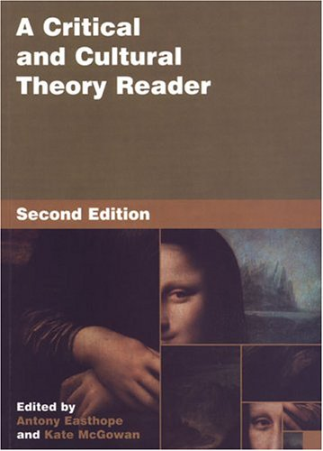 Download A Critical And Cultural Theory Reader 080203800X