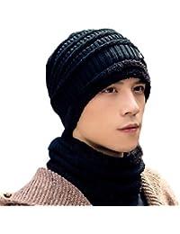 (チェリーレッド) CherryRed レディース&メンズ ユニセックス ロールアップワッチ 防寒対策 ニット帽 ァッション 大きいサイズ ニット帽&ネックウォーマー 二点セット 2#