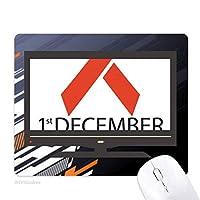 12月1日エイズエイズ連帯 ノンスリップラバーマウスパッドはコンピュータゲームのオフィス