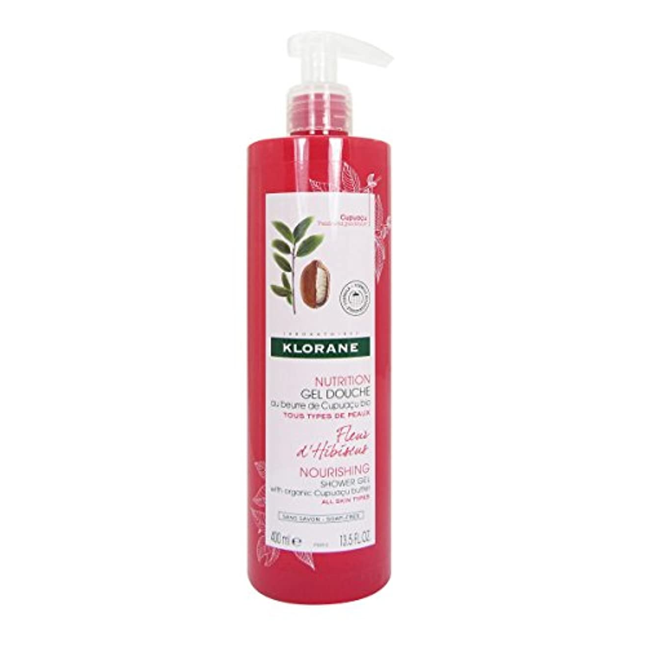 探す望み顔料Klorane Nutrition Hibiscus Flower Shower Gel 400ml [並行輸入品]