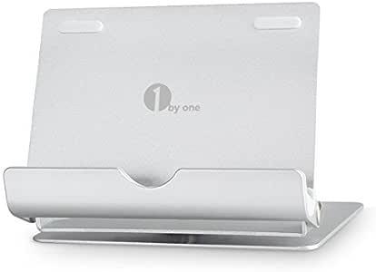 1byone スマートフォンスタンド 360度回転 角度調整自由 折り畳み可能 アルミとゴム製 滑り止め iPhone/iPad/タブレット/スマホ等 10インチ以内 機種対応