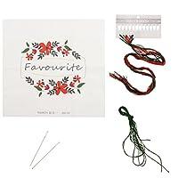 Homyl 刺繍 スターターキット 大人/キッド 糸&針付き 全4色 - 1
