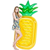 巨大なパイナップルのプール党浮遊いかだ、大人及び子供のための膨脹可能なFloatieのラウンジ/プールのLoungersのおもちゃ (Color : Yellow+fast pump, Size : 180x90CM)