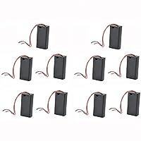 Jiliオンライン10xバッテリーホルダースナップオンコネクターEnclosed Openボックススイッチwith 130mmリードワイヤのAAバッテリー