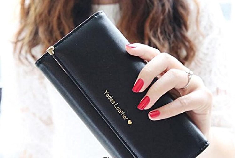 Sta.ANA(サンタ?アナ) レディース かわいい 三つ折 長財布 5カラーから選べる (黒?ブラック)