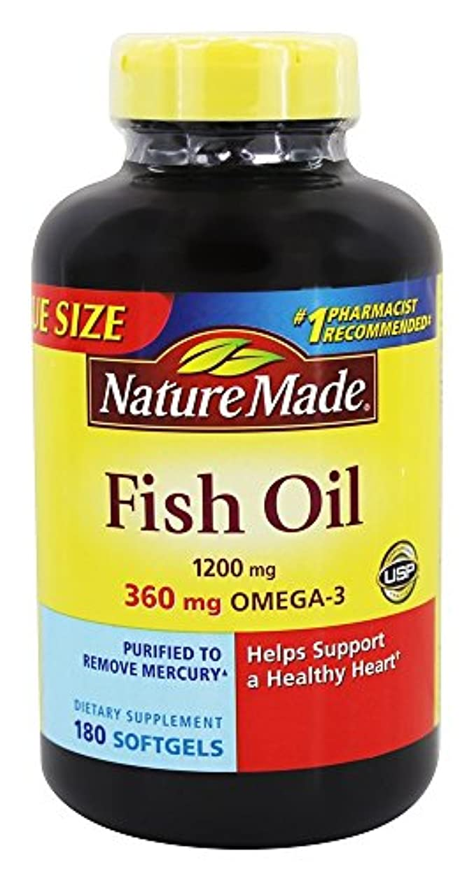 司書オーバーラン貝殻Nature Made Fish Oil Omega-3 1200mg, (180 Liquid Soft Gels) by Nature Made