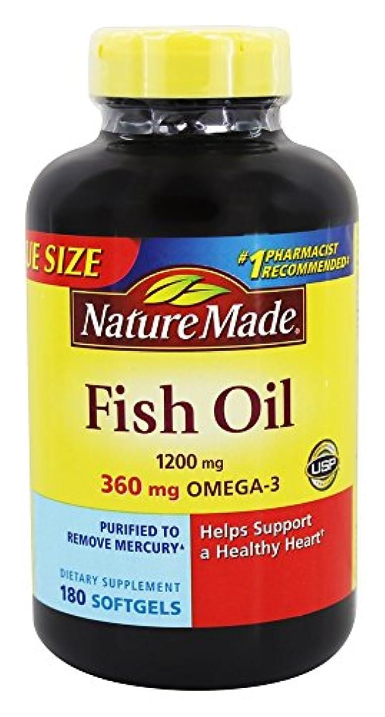正確なシーフードお世話になったNature Made Fish Oil Omega-3 1200mg, (180 Liquid Soft Gels) by Nature Made