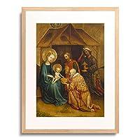 Meister des Heisterbacher Altars,um1450 「Anbetung des Kindes durch die hl.drei Konige.」 額装アート作品