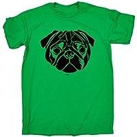 123t Kids Funny Tee - Pug Head - Childrens Top T-Shirt T Shirt