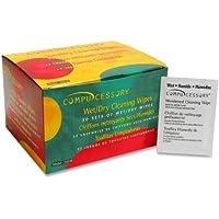 Compucessory – 画面クリーナーWipes Wet / Dryツインパック、50セット/ PK , Sold as 1ボックス、CCS 24218
