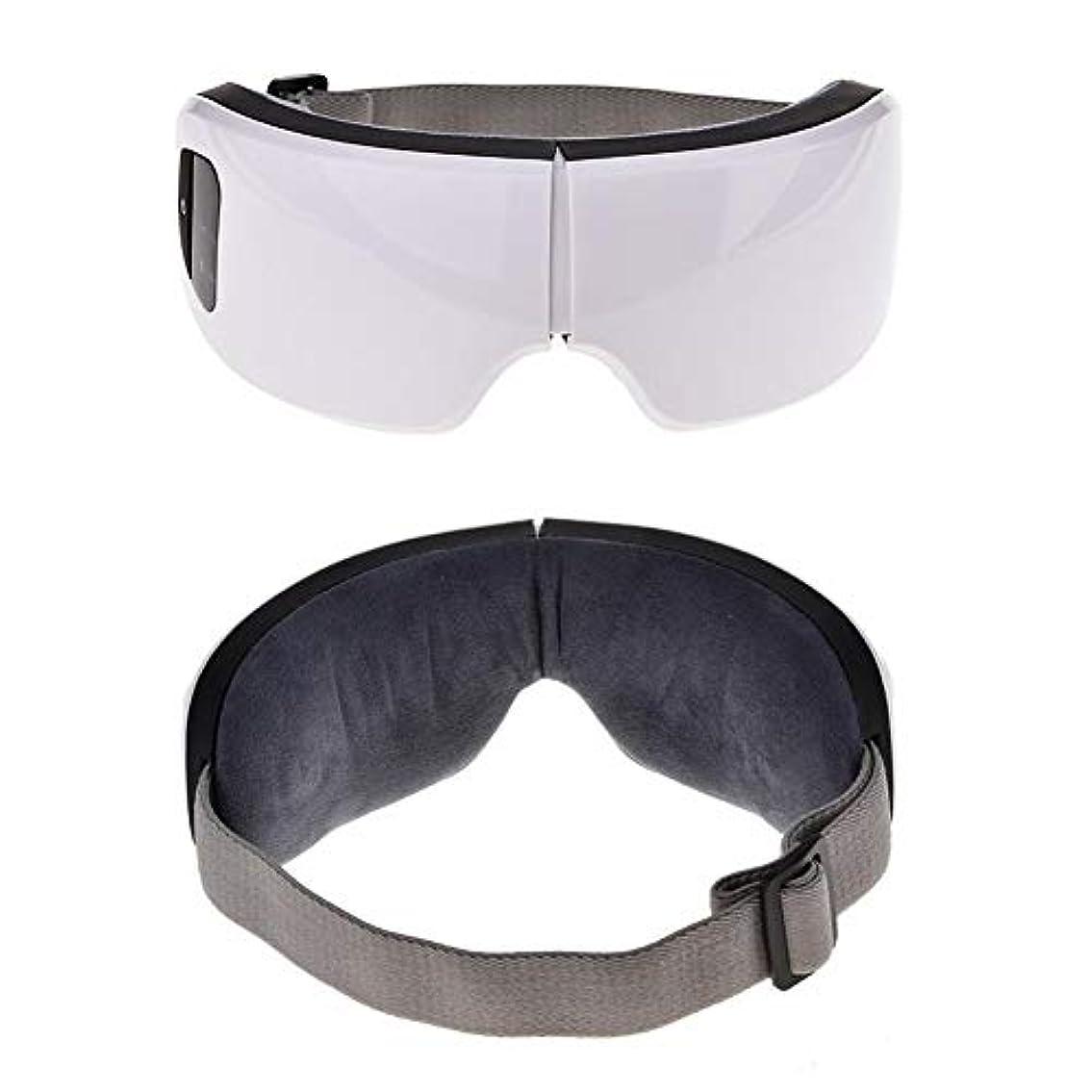 口ひげフェリー扱う目のケアツール6 sワイヤレスUSB充電式Bluetooth折りたたみ式アイマッサージャー調整可能な空気圧アイプロテクターリリーフ睡眠旅行クリスマスギフト
