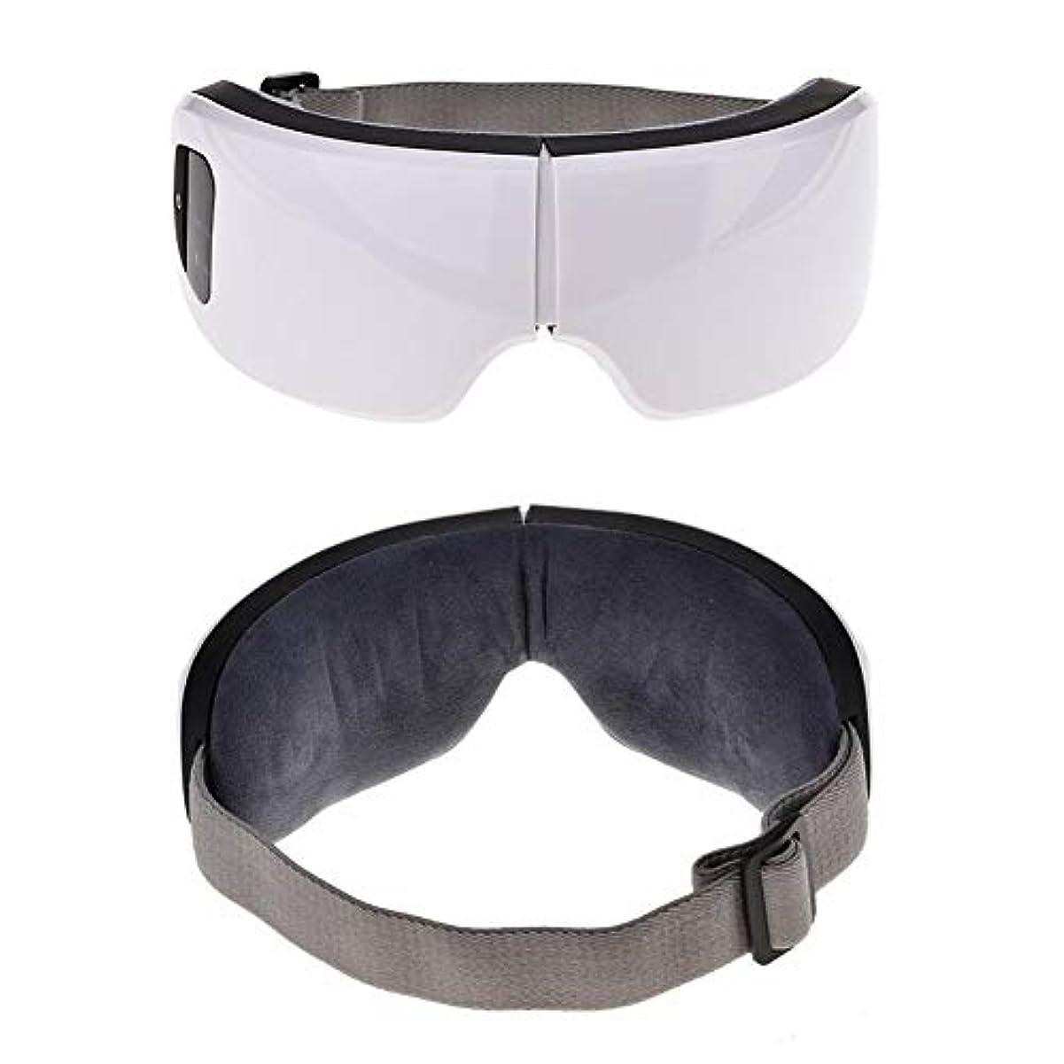 ビデオ崩壊手つかずの目のケアツール6 sワイヤレスUSB充電式Bluetooth折りたたみ式アイマッサージャー調整可能な空気圧アイプロテクターリリーフ睡眠旅行クリスマスギフト
