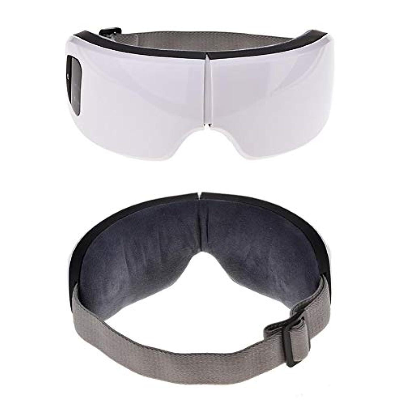 角度崇拝します超越する目のケアツール6 sワイヤレスUSB充電式Bluetooth折りたたみ式アイマッサージャー調整可能な空気圧アイプロテクターリリーフ睡眠旅行クリスマスギフト