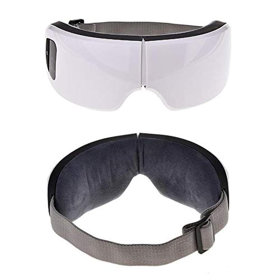 曇った薄める構成する目のケアツール6 sワイヤレスUSB充電式Bluetooth折りたたみ式アイマッサージャー調整可能な空気圧アイプロテクターリリーフ睡眠旅行クリスマスギフト