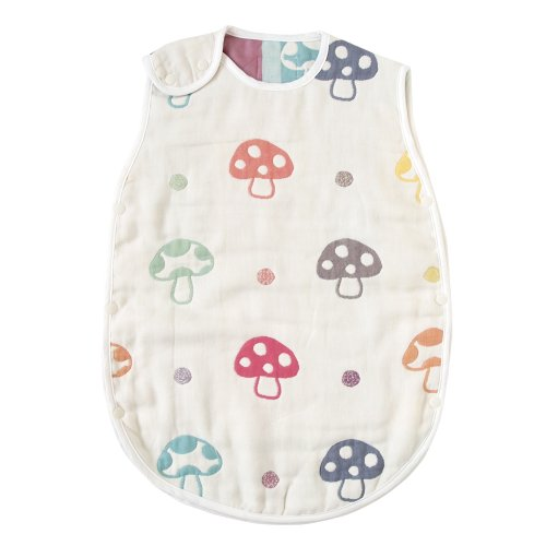 Hoppetta シャンピニオン ふくふくガーゼ(6重ガーゼ)  スリーパー 赤ちゃん