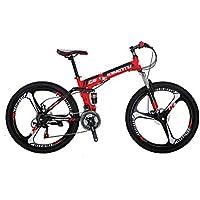 Extrbici G6 マウンテンバイク MTB 自転車 折りたたみ 自転車 シマノ21段変速  26インチ アルミフレーム ディスクブレーキ