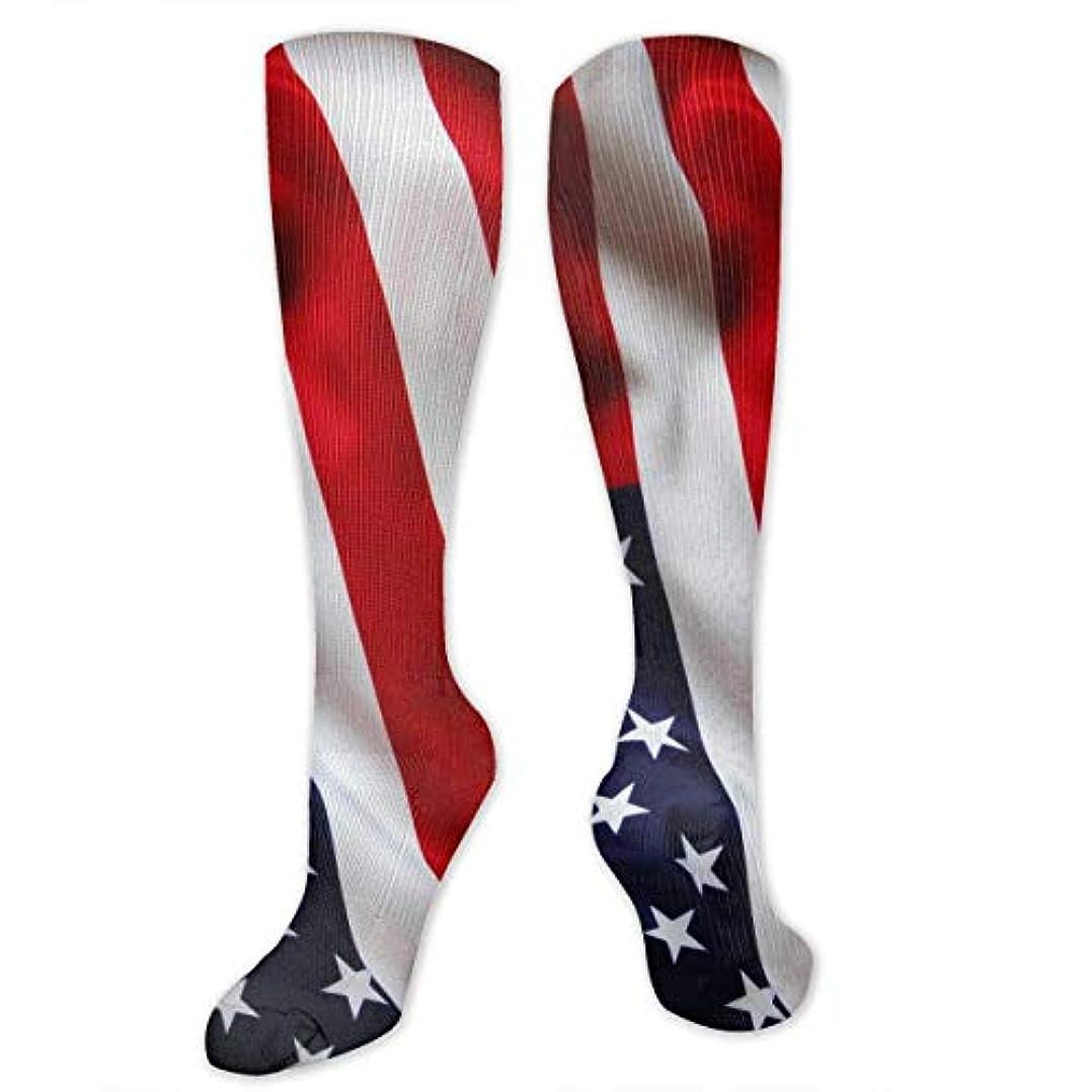 創造事実理容師靴下,ストッキング,野生のジョーカー,実際,秋の本質,冬必須,サマーウェア&RBXAA The Stars Stripes Socks Women's Winter Cotton Long Tube Socks Knee...