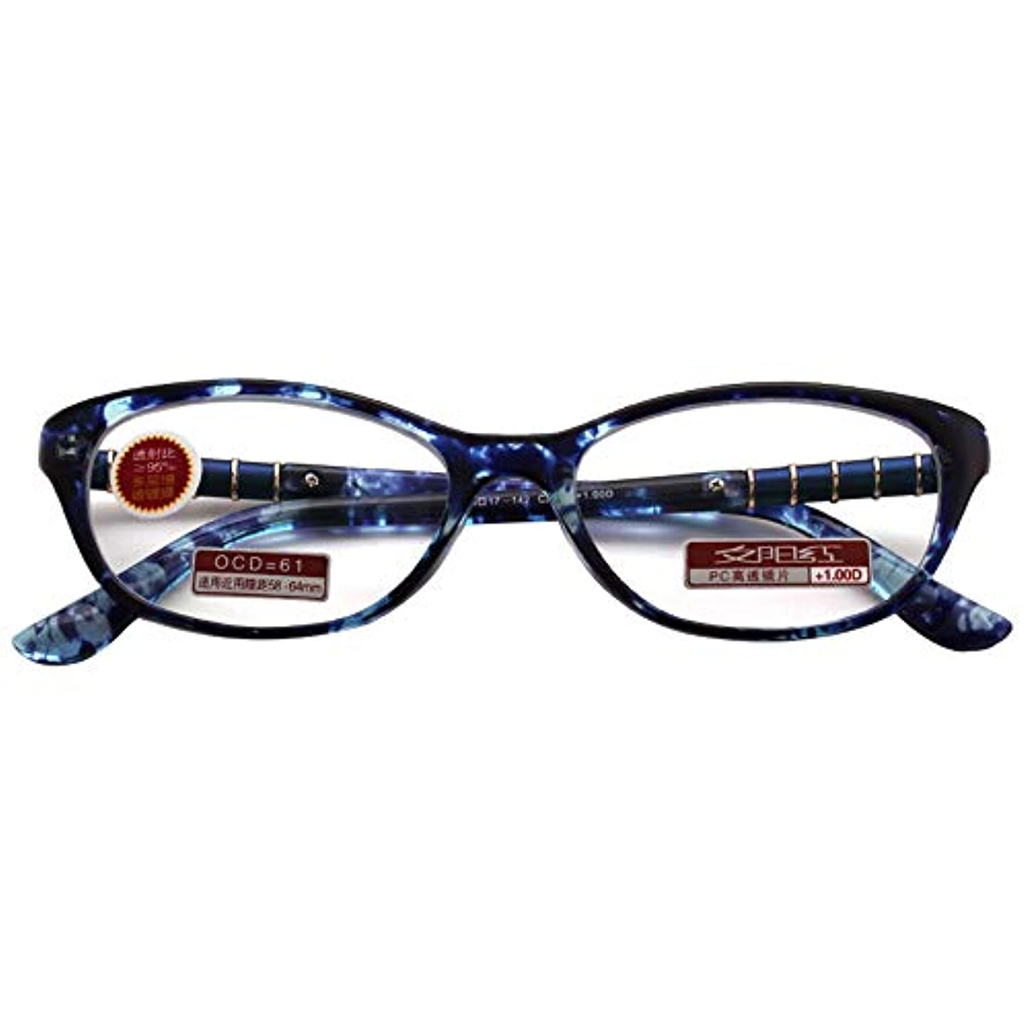 腐ったがっかりした疑問に思うUV保護老眼鏡、シニアHD読書抗疲労抗放射線超軽量樹脂ファッションメガネ、レディースポータブル老眼鏡