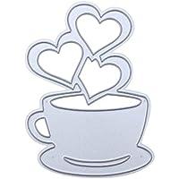 Sunsoar ダイカットテンプレート カード作り道具 スクラップブック DIY パズル ハート コーヒー