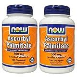 [2本セット]NOW Foodsパルミチン酸アスコルビル (500mg) 100カプセル [海外直送品]