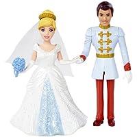 Disney Princess Little Kingdom Magiclip Cinderella Fairytale Wedding Dolls by Mattel [並行輸入品]