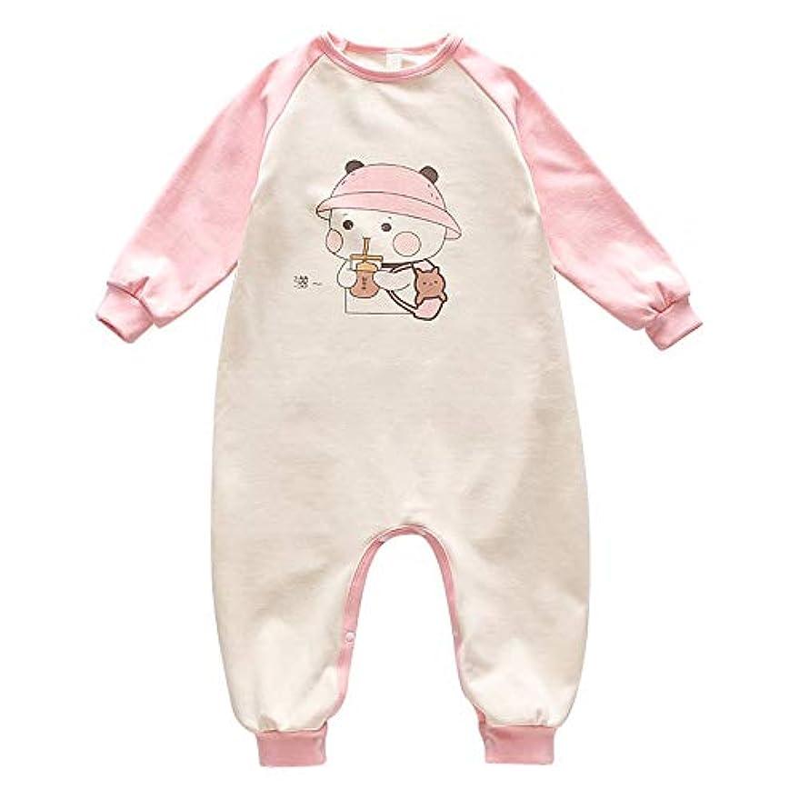 ヘロイン分数ふざけたパジャマ赤ちゃん新生児漫画カジュアルアンチ驚愕長袖シングルブレスト保温アンチキックコットンパジャマユニセックスロンパースパジャマ0-6ヶ月,A,90CM