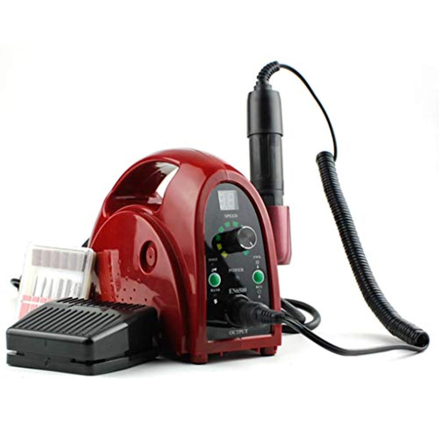 廃棄かび臭い回想ネイルマシン 卓上式 電動 プロ セルフ 正逆回転 ジェルネイルオフ ネイルケア道具 ネイルドリル ネイルマシーン 爪手入れツール 3.5万回転/分,Red