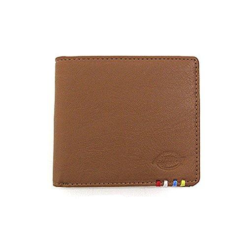 ディッキーズ 17370600 PUレザー 二つ折り財布 ウォレット 小銭入れ付き 札入れ付き ワンサイズ LIGHTBROWN