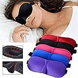 Niome 3D Sleep Eye Mask Shade Eye Cover Soft Comfortable Mask for Sleeping Good Sleep Black