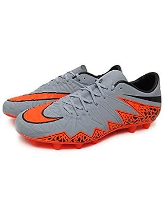 (ナイキ) NIKE サッカー スパイク ハイパーヴェノム フィニッシュ HG-E メンズ 24.5 ウルフグレー/トータルオレンジ/ブラック/ブラック