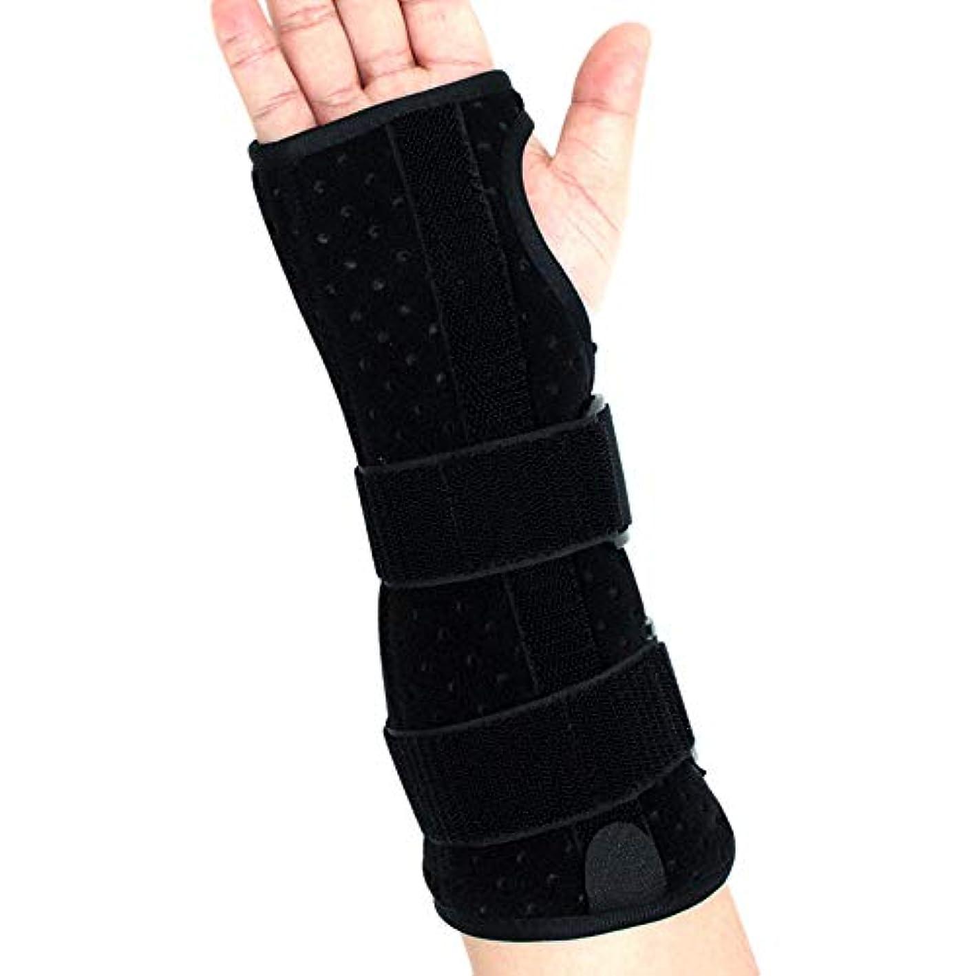 フェデレーション使用法矩形手首サポートブレース、怪我、スポーツ、ジム、繰り返しの緊張などのためのクッション付きパッド付き軽量スプリント デザイン,Righthand,L