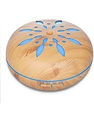 アロマセラピー超音波加湿器300ml エッセンシャルオイルディフューザー7色 LED 4 タイマー空気清浄ベビー加湿器ホームオフィスベビーベッドルーム