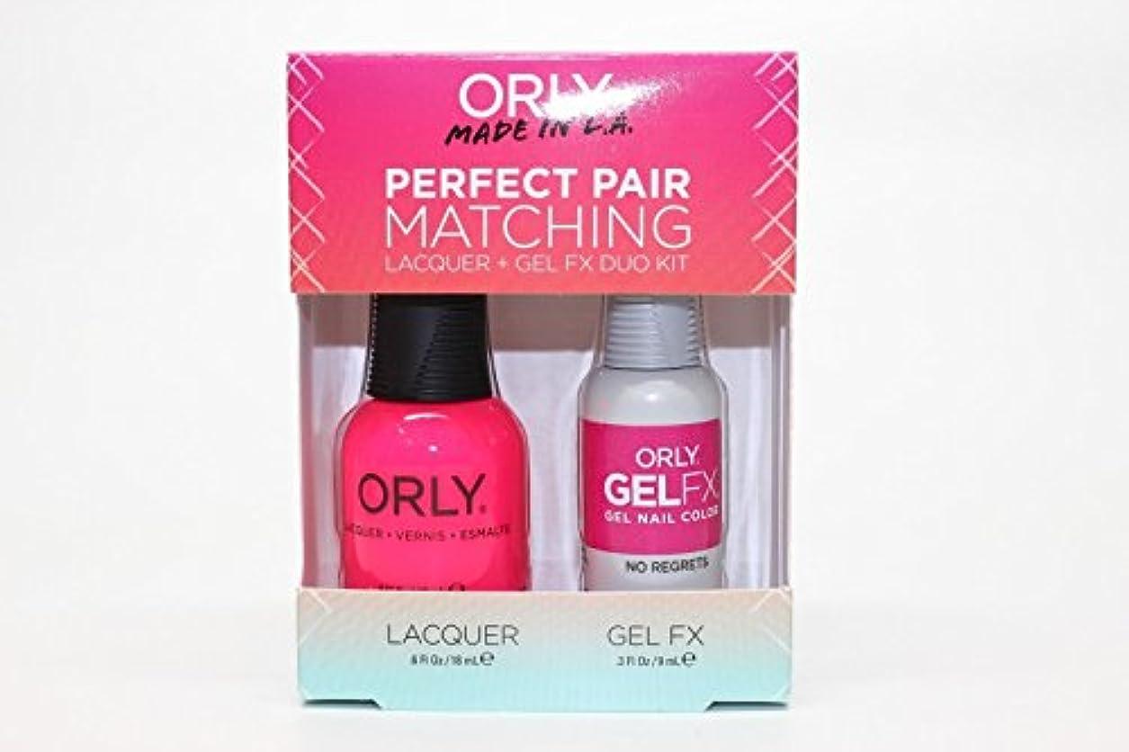 農奴ぴかぴか合金Orly Lacquer + Gel FX - Perfect Pair Matching DUO Kit - No Regrets