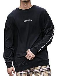 (エーエスエム) A.S.M メンズ Tシャツ 【KANGOL×A.S.M コラボ】ソフト 裏毛 オーバーサイズ トレーナー KANGOL 袖プリント ビッグ トレーナー 02-61-9830