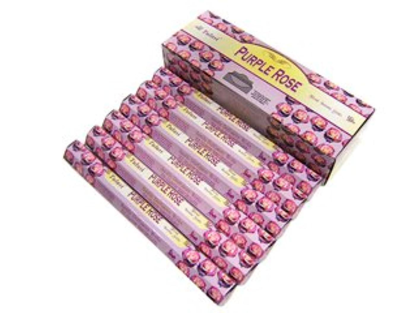 西部課税傾いたTULASI(トゥラシ) パープルローズ香 スティック PURPLE ROSE 6箱セット