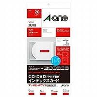エーワン A-One CD/DVDインデックスカード(プリンタ兼用)マット紙 2面 10シート入 51160 / 5セット