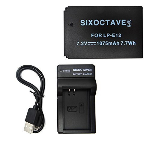 Canon キャノン 大容量1075mah LP-E12 完全互換バッテリーパックと急速互換USB充電器チャージャーLC-E12 の2点セット キヤノン Eos KissX7・EOSM・EOSM2 EOS Kiss X7/ EOS M/ EOS M2 カメラ バッテリー チャージャーセット