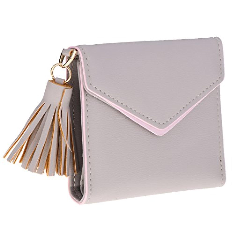 Perfk 小銭入れ カードホルダー 財布 レディース PUレザー タッセル ファッション 全3色