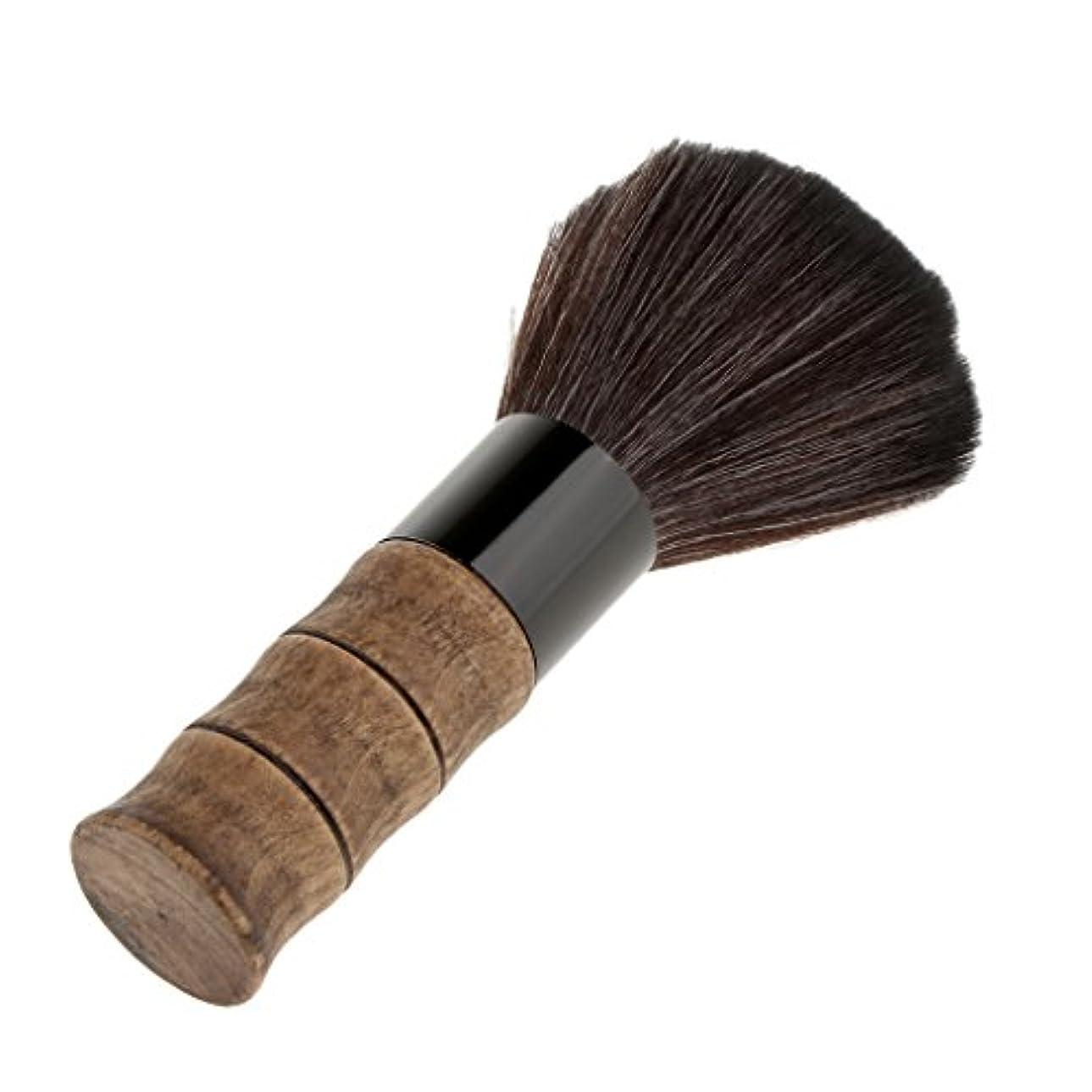 習熟度移行する一目ブラシ シェービングブラシ メイクブラシ ソフト 超柔らかい 繊維 洗顔 木製ハンドル 泡立ち 2色選べる - ブラック