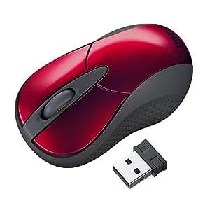 サンワサプライ ワイヤレスIRセンサーマウス 超小型 レッド MA-IRW22R