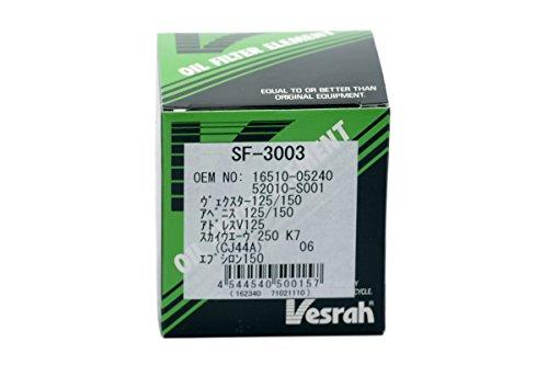 ベスラ(Vesrah) オイルフィルター スズキ、カワサキ SF-3003