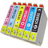 SEASKY エプソン インク IC6CL50 6色セット EPSON IC50 インクカートリッジ 50 互換インク