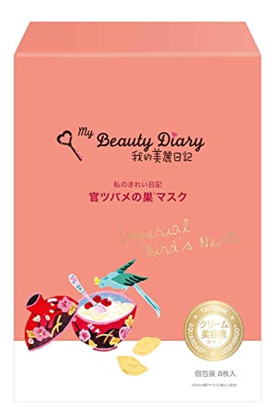 上向き運命フラップ我的美麗日記-私のきれい日記- 官ツバメの巣マスク 8枚入