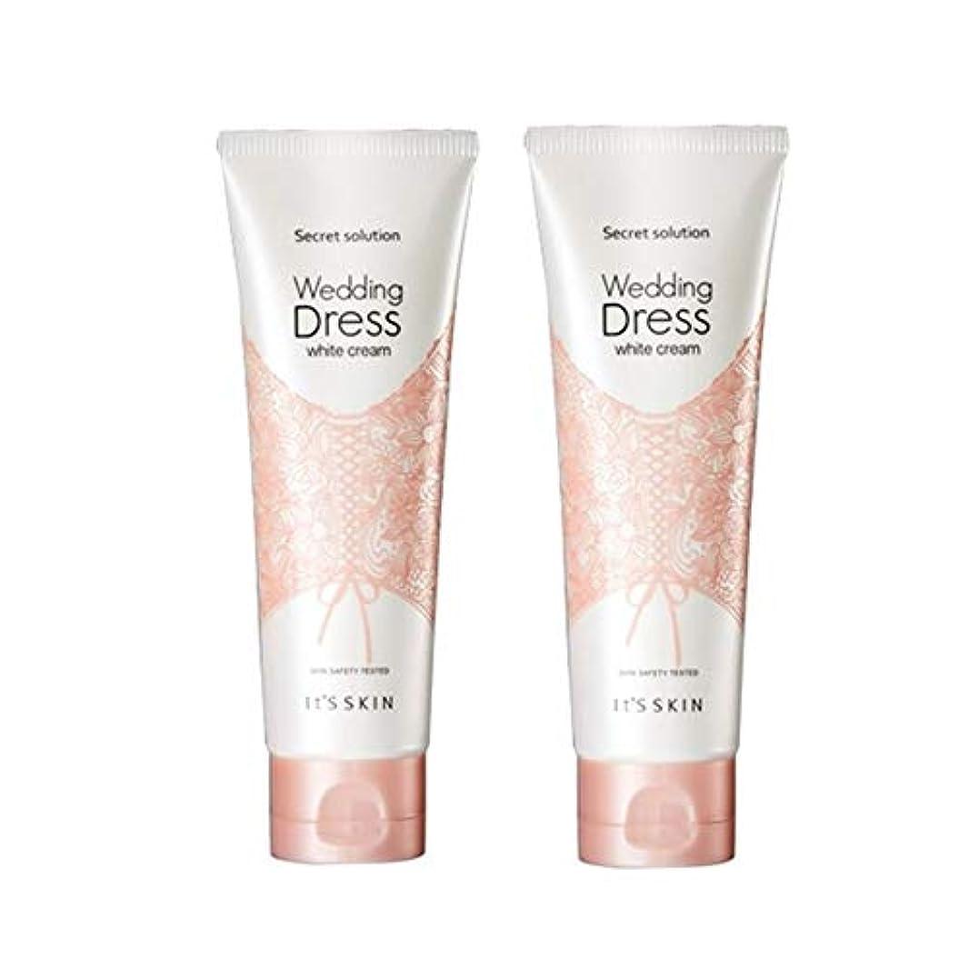 インシュレータ北米ソーセージイッツスキンのシークレット?ソリューションウェディングドレス?ホワイトクリーム100mlx 2本セット、It's Skin Secret Solution Wedding Dress White Cream 100ml...