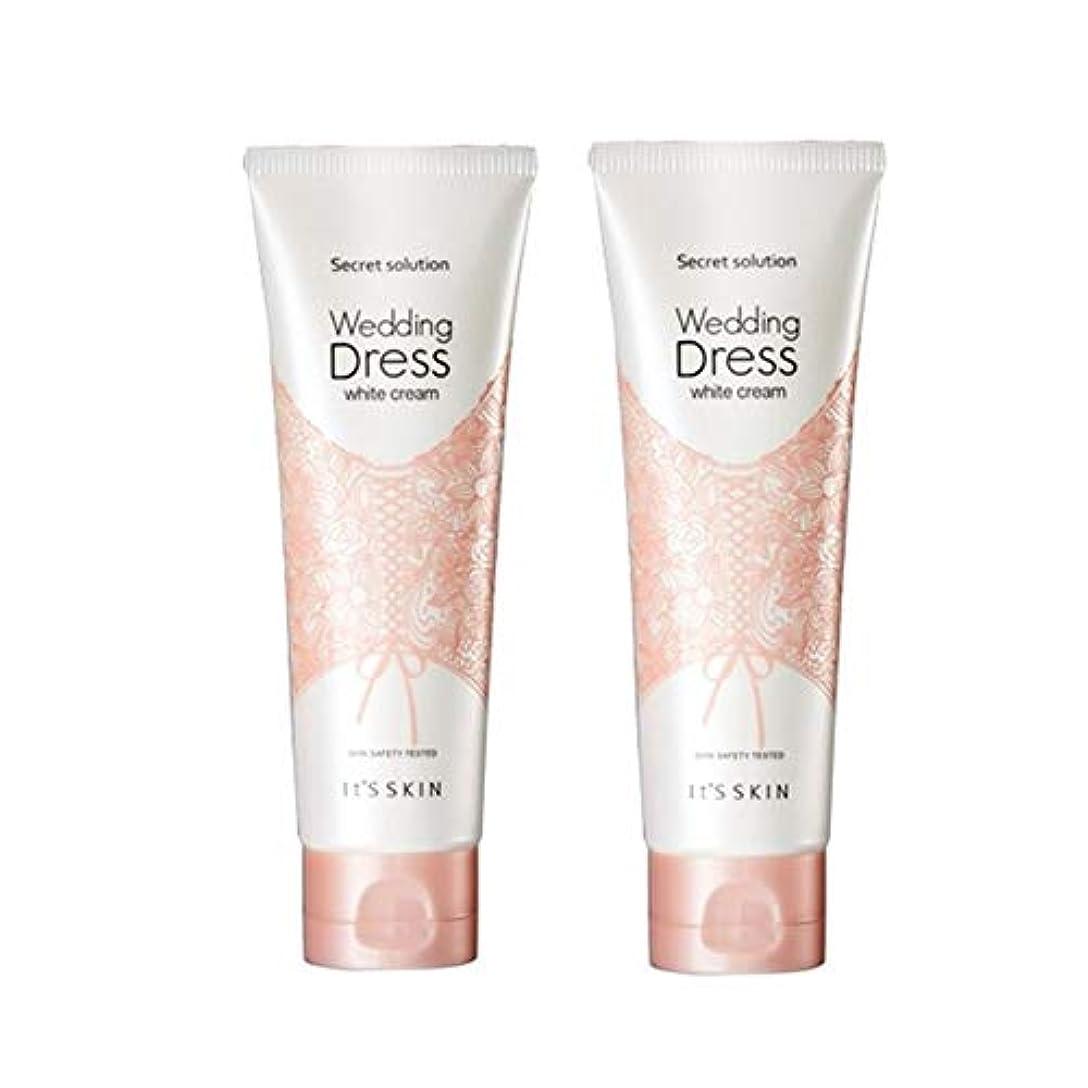 揃える首相家禽イッツスキンのシークレット?ソリューションウェディングドレス?ホワイトクリーム100mlx 2本セット、It's Skin Secret Solution Wedding Dress White Cream 100ml...