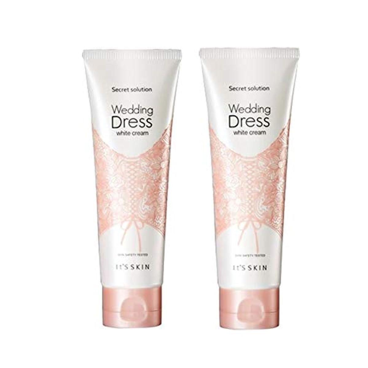 軍コンパニオン審判イッツスキンのシークレット?ソリューションウェディングドレス?ホワイトクリーム100mlx 2本セット、It's Skin Secret Solution Wedding Dress White Cream 100ml...