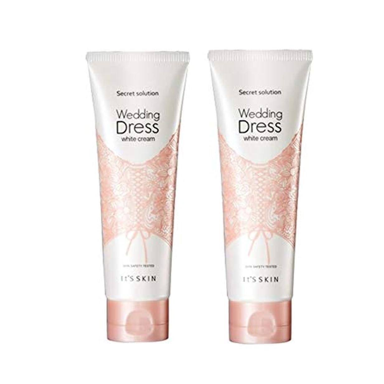 引っ張る四分円襟イッツスキンのシークレット?ソリューションウェディングドレス?ホワイトクリーム100mlx 2本セット、It's Skin Secret Solution Wedding Dress White Cream 100ml...